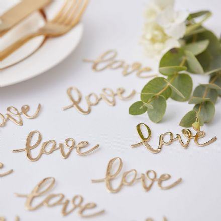 "Gold ""Love"" Table Confetti"